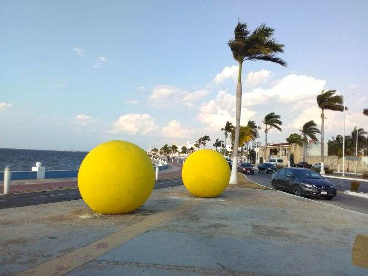 Malecón de Campeche.