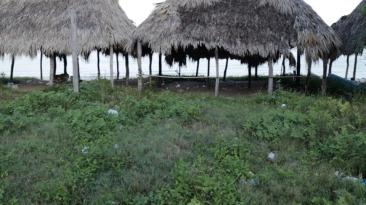 Limpieza del balneario Payucán.