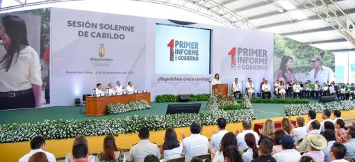 Informe de alcaldesa de Hopelchén.