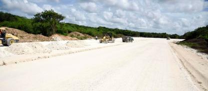 Mejoramiento de calles en Campeche.