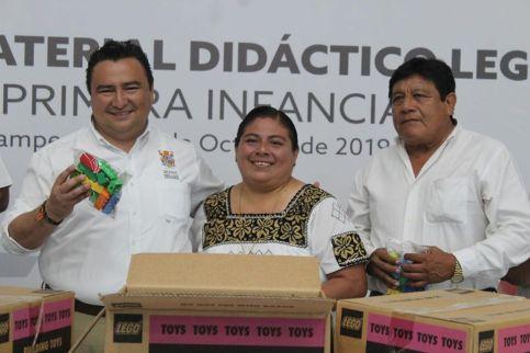 Entrega de material didáctico Lego en los municipios de Candelaria, Escárcega y Champotón.
