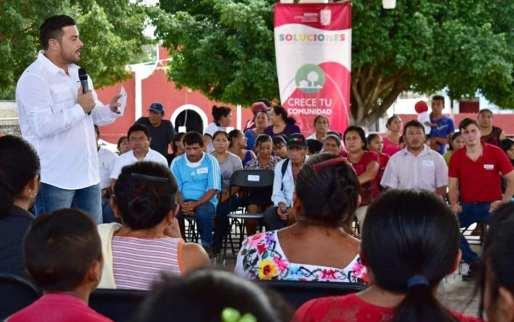 ENTREGÓ SEDESYH 5.5 MDP PARA REHABILITAR ESPACIOS COMUNITARIOS.