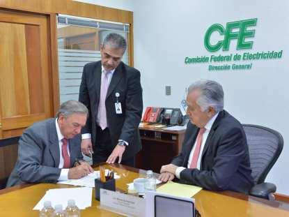 Histórico acuerdo con CFE.